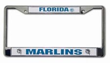 Florida Marlins chrome license plate frame by Rico Industries new auto tag MLB