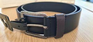"Mens DIESEL Buffalo Leather Belt Size 35-36""/90 Black & Brown, BNWT MINO3 X05109"