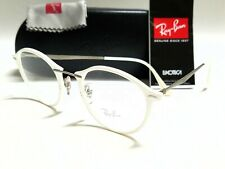 Authentic RAY BAN RX7073 5618 LightRay White 47/21/140 Round Eyeglasses