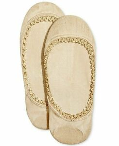 HUE Lace Trim Liner Socks 2 Pack Cream $12 - NWT