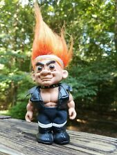 """DOOMSLAYERS Zork Russ Troll Doll in Leather Outfit Collectible 5"""" Punk"""