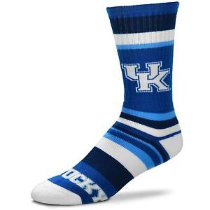 Kentucky Wildcats Rainbow Stripe Crew Socks