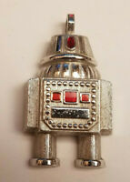 Vintage VTG 1970's AVON Galactic Robot Pendant Charm Necklace Jewelry Space