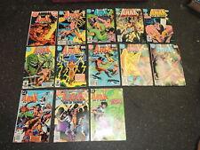 Lot of 13 Vintage Arak Son of Thunder Comic Books