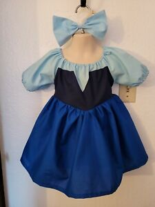 #60 Handmade Disney Princess Ariel Blue (Kiss the girl) dress up/costume 3mo-6Y