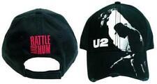 Oficial U2-traqueteo y el zumbido Bordado Negro Ajustable Gorra de béisbol