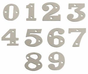 "Door Numbers Satin Aluminium House Numerals 50mm 2"" SAA Signs Number Flat Gate"