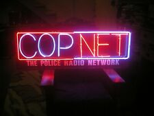 """New listing Neon Sign """"Copnet"""" The Police Radio Network"""