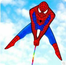 Spiderman Flying Kite With Winder Board String Outdoor Children Kids Toy Game
