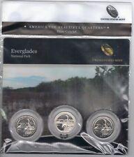 Bu 2014 Everglades National Park Pds mints Atb Series three coin set 3 quarters