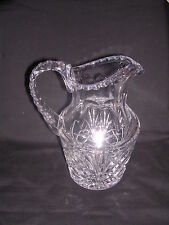 Waterford Vintage Pitcher Criss Cross Design With Beveled Handle and Top