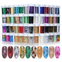 Holographicss Nail Foils Transfer Stickers Rose Gold Nail Art  Sky Decals