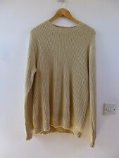 Lands End  pure cashmere  chunky textured knit jumper size L