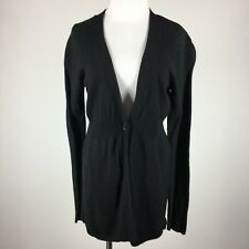 Ann Taylor Loft Womens Cardigan Sweater Black M On Button Long Sleeve