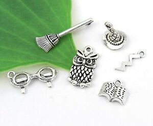 Packet of 2 x Antique Silver Tibetan 28mm Charms Pendants ZX04215 - Charming Beads Banana -