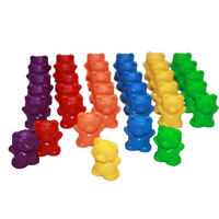 60Pcs Colorful Bear Shape Counters Toy Counting Numbers Kids Toys Teaching Aids