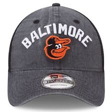 57d9e0f5042 Baltimore Orioles Era Black Rugged Team 9twenty Snapback Adjustable Hat