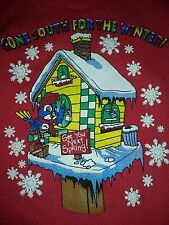 Children's Sweatshirt (Red w/ a Gone South for the Winter! scene) (Size L 14/16)