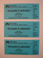 ROGGIN'S HEROES RARE VINTAGE 1993 SPORTS SHOW TICKETS NBC PICTURES FRED ROGGIN