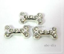 10pcs dog Bone Floating charms For Glass memory Locket Free shipping 051