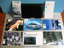 03 2003 BMW E46 3-Series 325Ci 330Ci Ci Convertible Owners Manuals Case Set D154