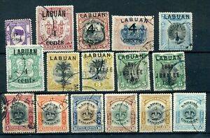 Labuan useful postally used selection high cat val