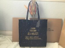 NWT. COACH STAR WARS PRINT CANVAS TOTE BAG F88038