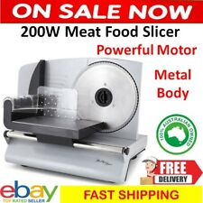 Electric Meat Slicer Food Slicing Machine Bread Cheese Fruit Vegetable Cutter