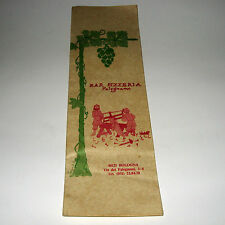 Vintage Italian Menu Wine List Bar Pizzeria Falegnami Bologna In Lira