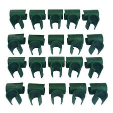 Set of 20 Garden Plant Stakes Connectors Plastic Cross Clips Climbing Clamp