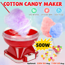 Electric Mini Cotton Candy Machine Withsugar Scoop Red Floss Carnival Maker Party