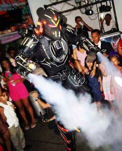 Show robot led trajes led bailarina  hora loca disfraz luces DJ fiesta