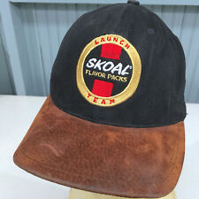 Rare VTG Skoal Chewing Tobacco Flavor Packs Launch Team Snap Baseball Cap Hat