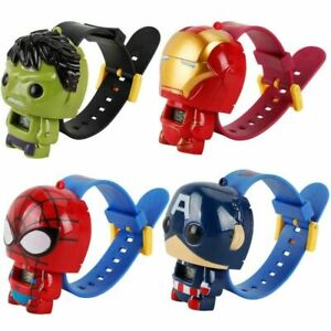 NEW Marvel Super Heroes Mini figure Watch Kids Children Birthday Party Gifts