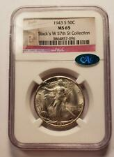1943 S Gem NGC MS65  CAC Walking Liberty Silver Halve