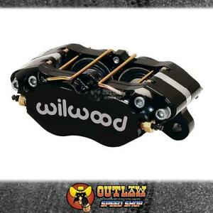 "WILWOOD DYNAPRO DUST-BOOT BRAKE CALIPER 4-PISTON 1"" ROTOR BLACK - WIL12015131BK"
