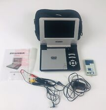 "Sylvania 7"" Portable Dvd Player, w/accessories, Sdvd 7015 Dvd Player Lot"
