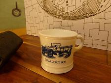 "Vintage Men's Grooming Kit & Surrey ""Rolls Royce 1907"" Milk Glass Shaving Cup"