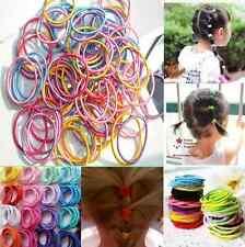 Lots 100Pcs Baby Kids Girl Elastic Hair Bands Ponytail Holder Head Rope Ties