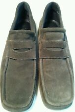 ECHO BROWN SUEDE LOAFERS 12 C made in Portugal excellent cond. Very comfortable