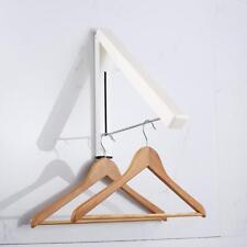 Magic Fold-Away Coat Hanger Wall Mounted Clothes Hanging Rail System Dry Rac,de