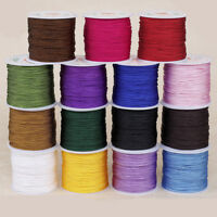 45M 0.8mm Nylon Cord Thread Braided Chinese Knot Macrame Rattail Bracelet String