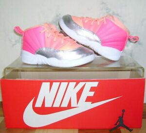 NIKE AIR JORDAN 12 XII Retro SUNRISE TD Size 9 C Shoes 819666-601 FAST SHIPPING!