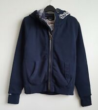 SUPERDRY MENS THICK NAVY HOODIE JACKET SIZE S-M