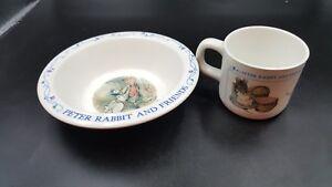 vtg-Eden-Peter Rabbit melamine Cup & Bowl 1996 child