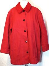 Boyne Valley Weavers Red Woven Wool Cashmere Alpaca Knit Coat Ireland 1X