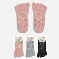 Yoga Socks for Women with Grips Non-Slip Five Toe Socks for Pilates 3 Color