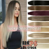 Tape in Brazilian Real Remy Human Hair Extensions Seamless Glue Skin Weft Hair