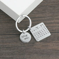 Personalised Keyring Engraving Lover Names Date Key Chain Gift For Her Present