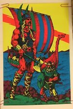 The Viking Houston Blacklight Vintage Poster Psychedelic 1970 Original 70s UV